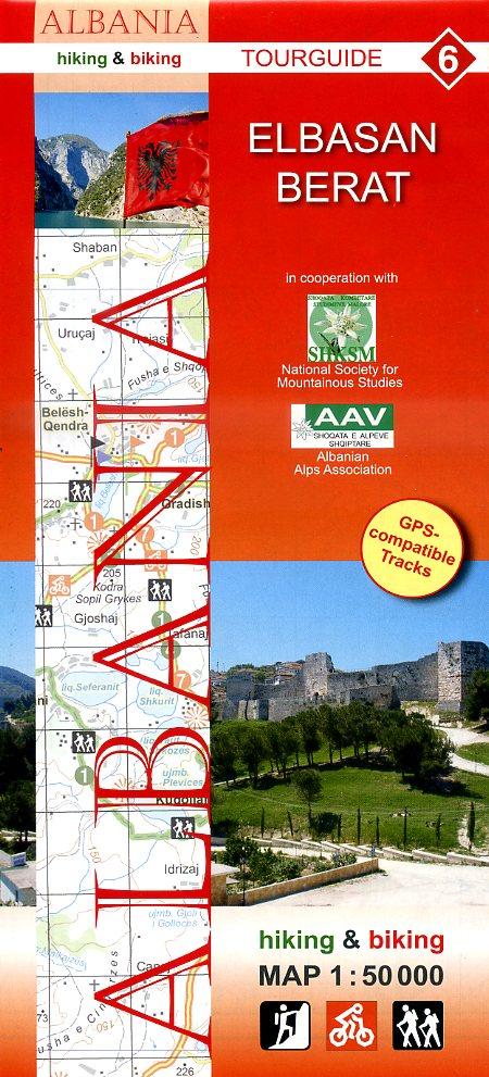 HA-06  Elbasan Berat | wandelkaart 9783943752120  Huber Verlag Albanië 1:50.000  Wandelkaarten Albanië