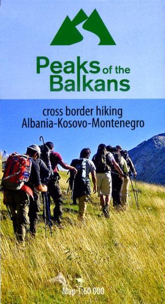 Peaks of the Balkans | wandelkaart 1:60.000 9783943752168  Huber Verlag   Wandelkaarten Balkan