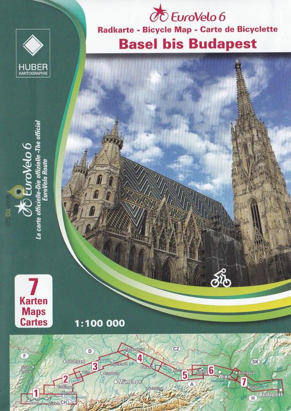 Eurovelo 6: van Basel tot Budapest - kaartenset 9783943752441  Huber Verlag   Fietsgidsen, Meerdaagse fietsvakanties Europa