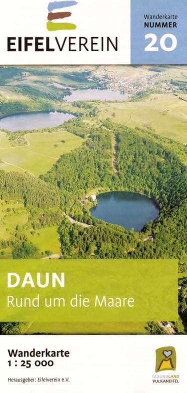 EV-20  Daun, Rund um die Maare | wandelkaart 1:25.000 9783944620091  Eifelverein Wandelkaarten Eifel  Wandelkaarten Eifel