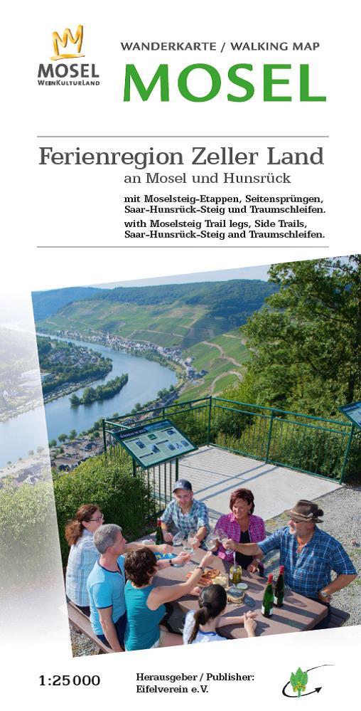 EV-36 Ferienregion Zeller Land | wandelkaart 1:25.000 9783944620121  Eifelverein Wandelkaarten Eifel  Wandelkaarten Moezel, van Trier tot Koblenz