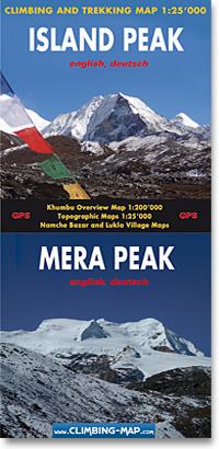 Island Peak / Mera Peak 1:25.000 9783952329450  Climbing-Map   Wandelkaarten Nepal