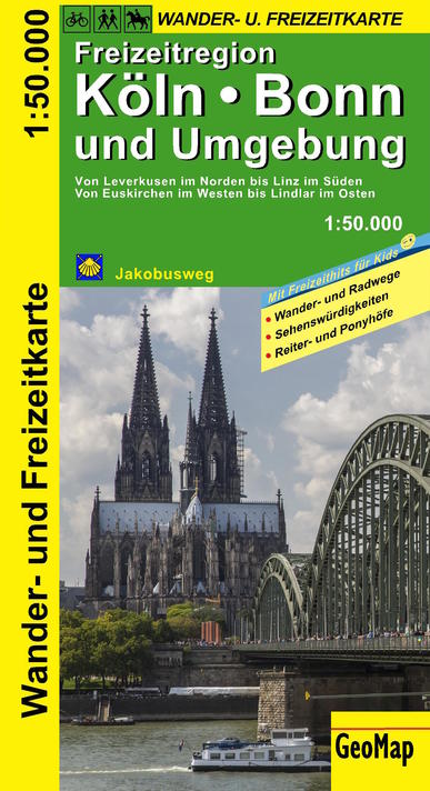 Köln, Bonn und Umgebung 1:50.000 9783959650021  GeoMap   Wandelkaarten Aken, Keulen en Bonn