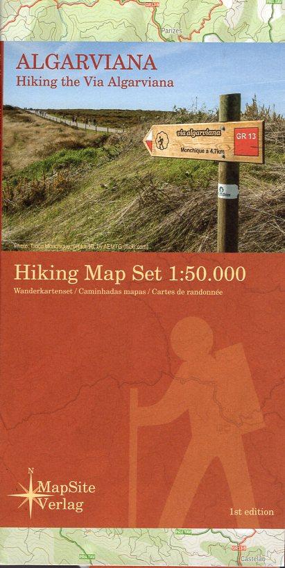 Hiking the Via Algarviana | set wandelkaarten 1:50.000 9783981721638  MapSite Verlag   Meerdaagse wandelroutes, Wandelkaarten Zuid-Portugal, Algarve