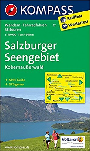 KP-17 Salzburger Seengebiet | Kompass wandelkaart 9783990440247  Kompass Wandelkaarten Kompass Oostenrijk  Wandelkaarten Salzburg, Karinthië, Tauern, Stiermarken