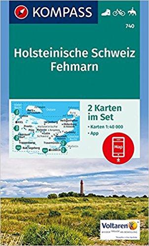 KP-740 NP Holsteinische Schweiz | Kompass wandelkaart 9783990442418  Kompass Wandelkaarten Kompass Duitsland  Wandelkaarten Sleeswijk-Holstein