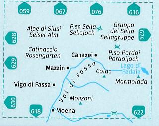 KP-686 Val di Fassa/Sella e Marmolada 1:35.000   Kompass wandelkaart 9783990442692  Kompass Wandelkaarten Kompass Italië  Wandelkaarten Zuid-Tirol, Dolomieten