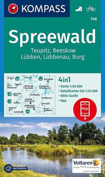 KP-748 Spreewald 1:50.000 9783990443286  Kompass Wandelkaarten Kompass Duitsland  Wandelkaarten Brandenburg & Sachsen-Anhalt