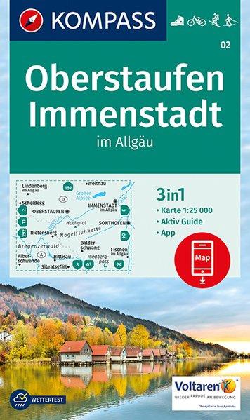 KP-02  Oberstaufen - Immenstadt | Kompass wandelkaart 9783990443347  Kompass Wandelkaarten Kompass Duitsland  Wandelkaarten Beierse Alpen