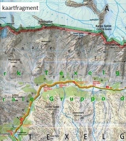 KP-043 Texelgruppe/Meraner Höhenweg   Kompass wandelkaart 9783990443941  Kompass Wandelkaarten Kompass Italië  Wandelkaarten Zuid-Tirol, Dolomieten