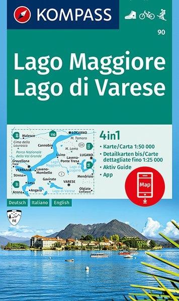 KP-90 Lago Maggiore 1:50.000 | Kompass wandelkaart 9783990444337  Kompass Wandelkaarten Kompass Italië  Wandelkaarten Milaan, Lombardije, Italiaanse Meren