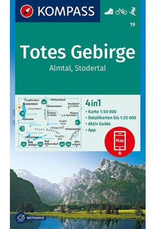 KP-19 Almtal-Steyrtal-Kremstal | Kompass wandelkaart 9783990444429  Kompass Wandelkaarten Kompass Oostenrijk  Wandelkaarten Salzburg, Karinthië, Tauern, Stiermarken