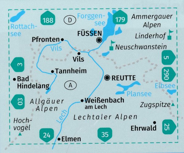 KP-4 Füssen-Ausserfern | Kompass wandelkaart 9783990444924  Kompass Wandelkaarten Kompass Oostenrijk  Wandelkaarten Tirol & Vorarlberg