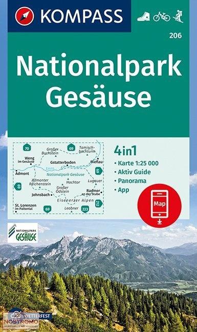 KP-206 Nationalpark Gesäuse 1:25.000 9783990444993  Kompass Wandelkaarten Kompass Oostenrijk  Wandelkaarten Wenen, Noord- en Oost-Oostenrijk