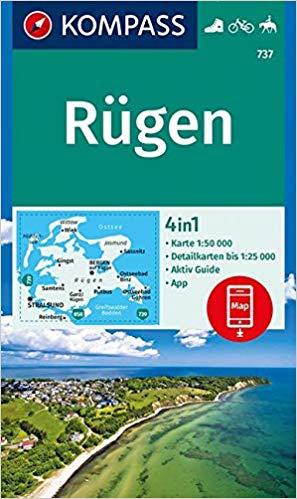 KP-737 Insel Rügen | Kompass wandelkaart 9783990445518  Kompass Wandelkaarten Kompass Duitsland  Wandelkaarten Rügen