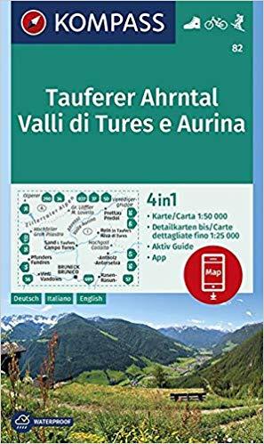 KP-82 Tauferer-Ahrntal 1:50.000 | Kompass wandelkaart 9783990445617  Kompass Wandelkaarten Kompass Italië  Wandelkaarten Zuid-Tirol, Dolomieten