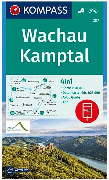 KP-207 Wachau/Nibelungengau | Kompass wandelkaart 9783990445624  Kompass Wandelkaarten Kompass Oostenrijk  Wandelkaarten Wenen, Noord- en Oost-Oostenrijk