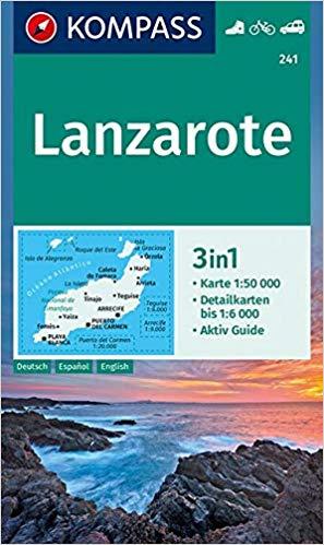 KP-241 Lanzarote | Kompass wandelkaart 9783990445693  Kompass Wandelkaarten   Landkaarten en wegenkaarten, Wandelkaarten Lanzarote