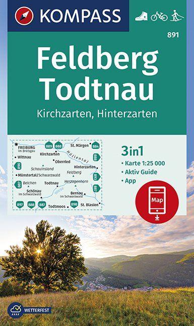 KP-891 Feldberg/Todtnau/Kirchzarten | Kompass 9783990446010  Kompass Wandelkaarten Kompass Duitsland  Wandelkaarten Zwarte Woud