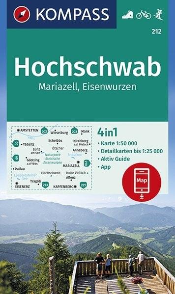 KP-212 Hochschwab/Mariazell | Kompass wandelkaart 9783990446362  Kompass Wandelkaarten Kompass Oostenrijk  Wandelkaarten Wenen, Noord- en Oost-Oostenrijk