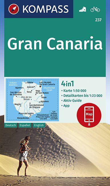 KP-237 Gran Canaria | Kompass wandelkaart 9783990446423  Kompass Wandelkaarten   Landkaarten en wegenkaarten, Wandelkaarten Gran Canaria