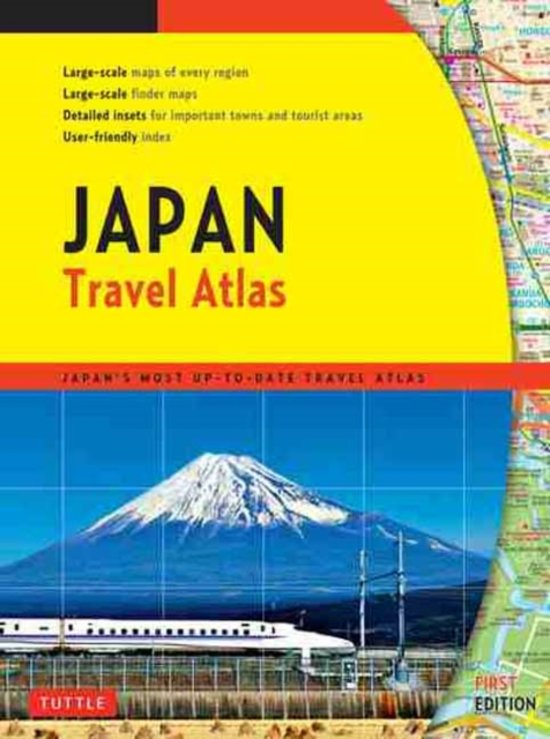 Japan Travel Atlas 9784805309667  Periplus   Wegenatlassen Japan