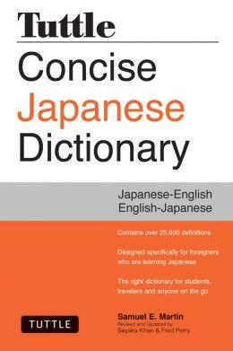 Concise Japanese Dictionary 9784805313183  Tuttle   Taalgidsen en Woordenboeken Japan