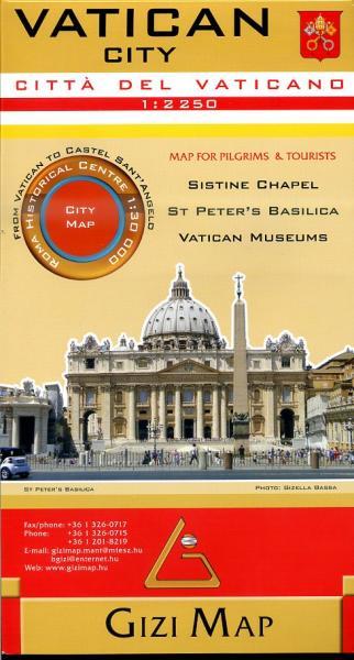 Vatican City, Vaticaan stadsplattegrond 9786155010095  Gizi Map   Stadsplattegronden Rome, Lazio