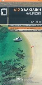 TM-412  Halkidiki 1:125.000 9786185160005  Terrain Maps Region  Landkaarten en wegenkaarten Midden en Noord-Griekenland, Athene