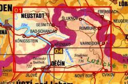 CZ50 01  Ceskosaske Svycarsko, Sluknovsko | wandelkaart 9788072241651  SHOCart Wandelkaarten Tsjechië  Wandelkaarten Tsjechië