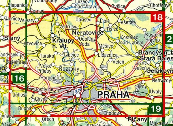 CZ50 18  Okoli Prahy - sever 1:50.000 | wandelkaart 9788072241675  SHOCart Wandelkaarten Tsjechië  Wandelkaarten Tsjechië