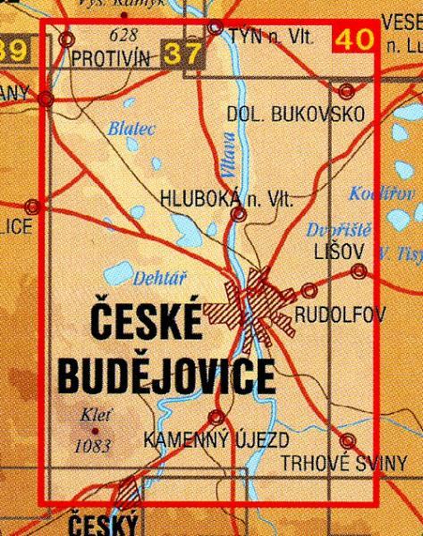 CZ50 40  Ceskebudejovicko, Hluboka nad Vltavou | wandelkaart 9788072242085  SHOCart Wandelkaarten Tsjechië  Wandelkaarten Tsjechië