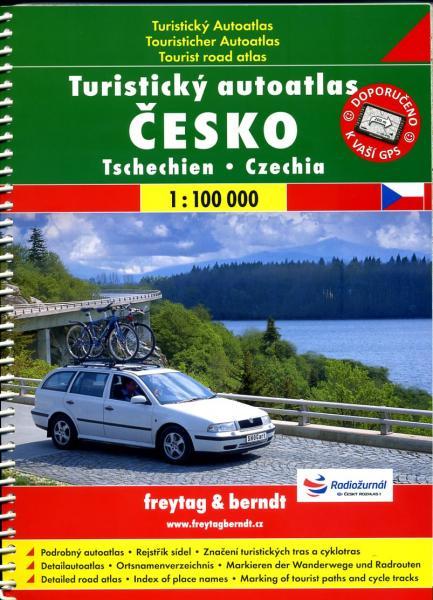 Cesko Turisticky Autoatlas Spirala 1:100.000 9788072243082  SHOCart Wegenatlassen  Wegenatlassen Tsjechië