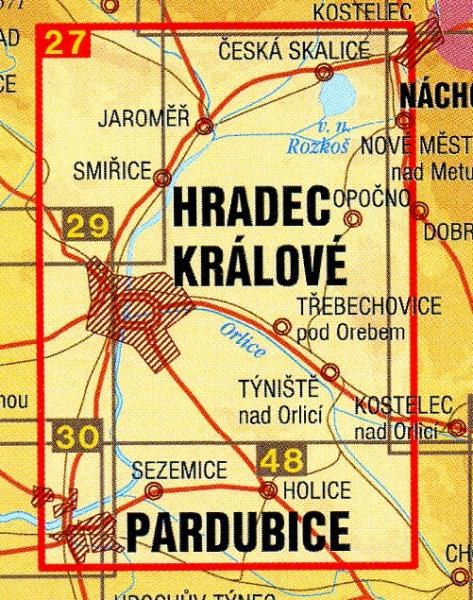 CZ50 27  Kralovehradecko 1:50.000 | wandelkaart 9788072243426  SHOCart Wandelkaarten Tsjechië  Wandelkaarten Tsjechië