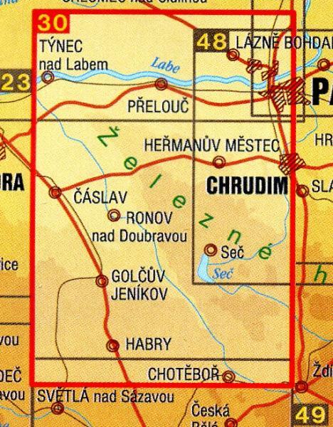 CZ50 30  Železné hory 1:50.000 | wandelkaart 9788072243433  SHOCart Wandelkaarten Tsjechië  Wandelkaarten Tsjechië