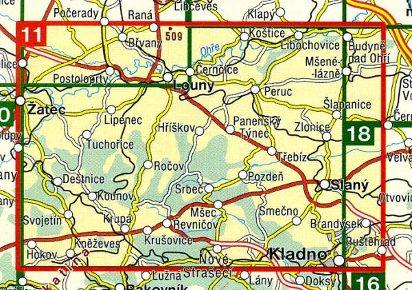 CZ50 11  Lounsko, Dzban 1:50.000 | wandelkaart 9788072243549  SHOCart Wandelkaarten Tsjechië  Wandelkaarten Tsjechië