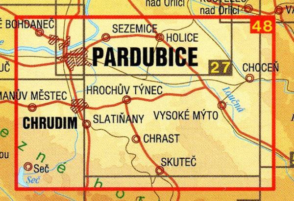 CZ50 48  Pardubicko, Chrudimsko 1:50.000 | wandelkaart 9788072243648  SHOCart Wandelkaarten Tsjechië  Wandelkaarten Tsjechië