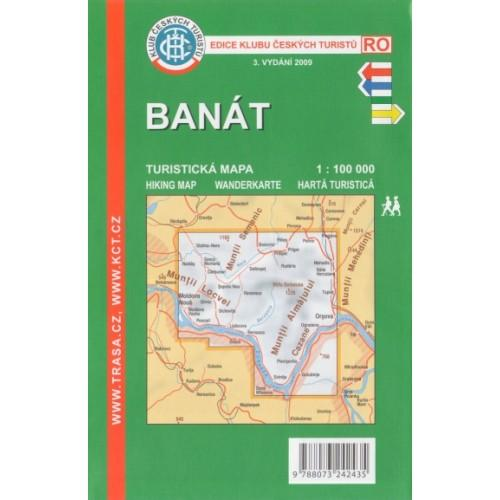 Banat (Romania) 1:100 000 | wandelkaart 9788073242435  KCT   Wandelkaarten Roemenië, Moldavië