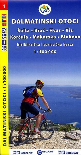 Dalmatinski Otoci 1 1:100.000 9788090520608  Geotour   Landkaarten en wegenkaarten Kroatië