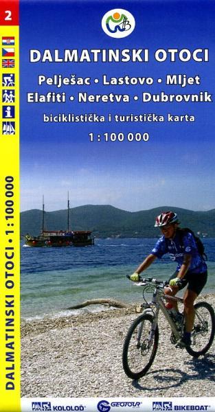 Dalmatinski Otoci 2 1:100.000 9788090520615  Geotour   Landkaarten en wegenkaarten Kroatië