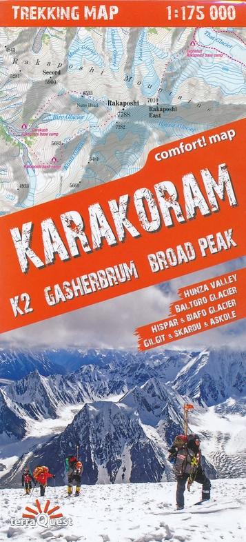 Karakoram 1:175.000 9788361155140  TerraQuest   Wandelkaarten Pakistaanse Himalaya