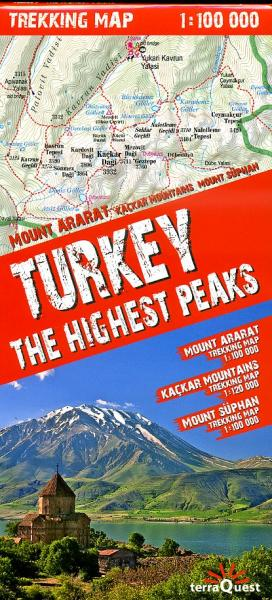 Turkije, de hoogste bergtoppen | kaart 1:100.000 9788361155294  TerraQuest   Wandelkaarten Turkse Riviera, overig Turkije