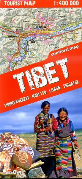 Tibet 1:400.000 9788361155317  TerraQuest   Landkaarten en wegenkaarten Tibet