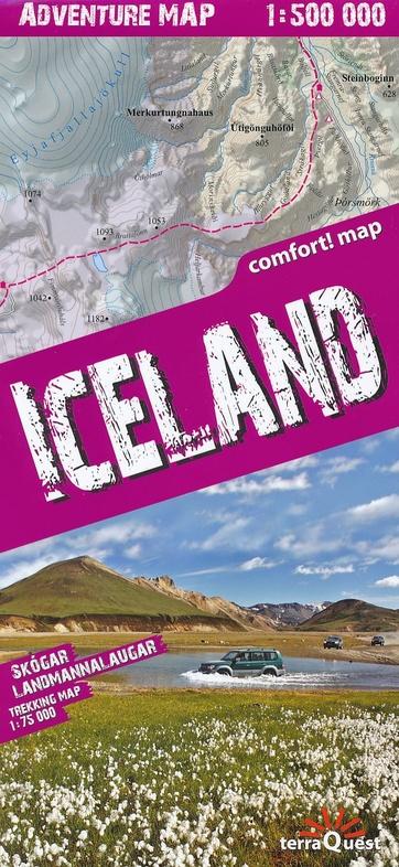 Iceland (IJsland) - Adventure Map 1:500.000 9788361155553  TerraQuest   Landkaarten en wegenkaarten, Wandelkaarten IJsland