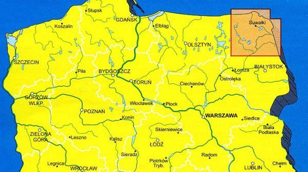 Suwalszczyzna 1:100.000 9788370009847  Ppwk Mapy turystyczna  Landkaarten en wegenkaarten Polen