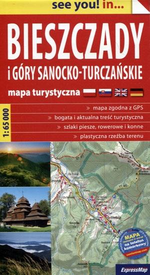 Bieszczady Mountains | wandelkaart 1:65.000 9788380460478  Terraquest / ExpressMap   Wandelkaarten Krakau, Poolse Tatra, Zuid-Polen