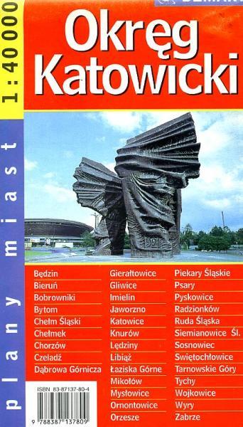 Okreg Katowicki  1:100.000 9788387137809  Ppwk   Landkaarten en wegenkaarten Polen