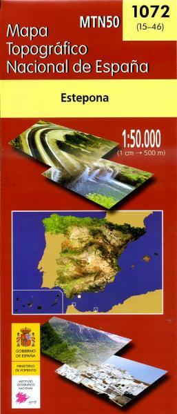 Hoja 1072  Estepona 9788441607941  CNIG Spanje 1:50.000  Wandelkaarten Andalusië