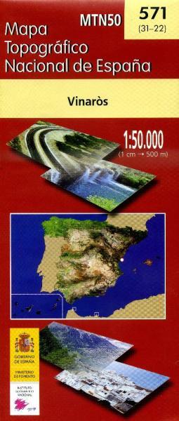 Hoja -571 Vinarós 9788441612907  CNIG Spanje 1:50.000  Wandelkaarten Costa Blanca