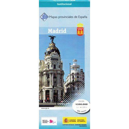 Prov.: Madrid 1:200.000 9788441620148  CNIG Provinciekaarten Spanje  Landkaarten en wegenkaarten Castilië